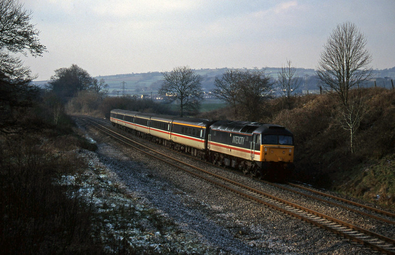 47848, 10.44 Plymouth-Manchester Piccadilly, Whiteball, 27-1-96.
