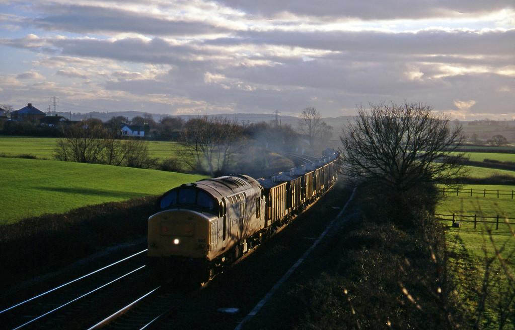 37892, up ballast, Willand, near Tiverton, 10-1-96.