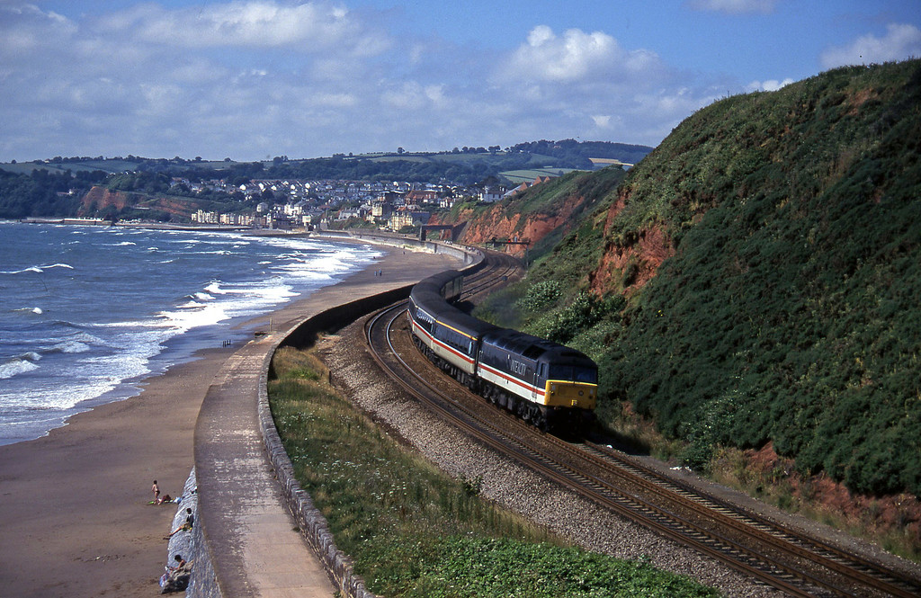 47818, 10.44 Plymouth-Manchester Piccadilly, Dawlish Warren, 16-7-96.