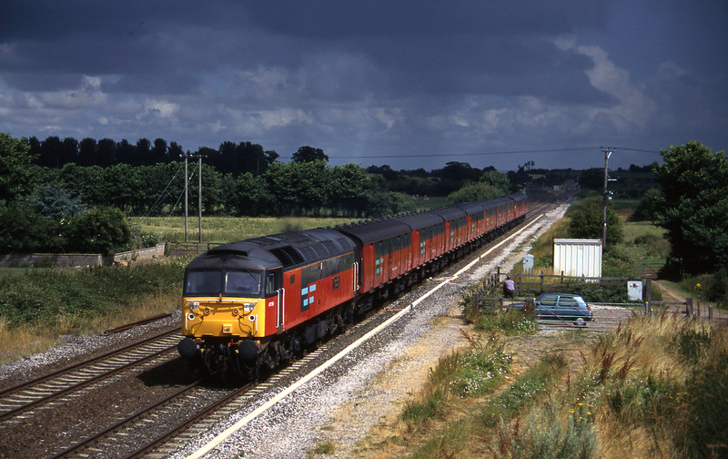47756, 12.15 Bristol Temple Meads-Plymouth, Cogload, 29-7-96.