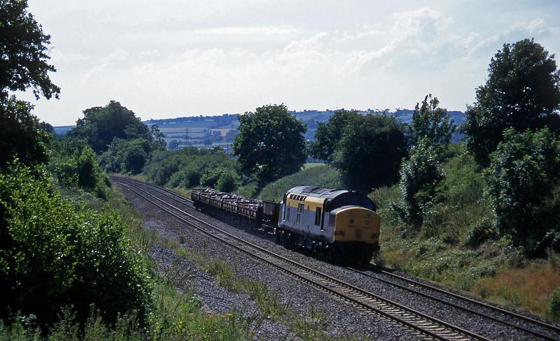 37146, Exeter Riverside Yard-Newport Alexandra Dock Junction, Whiteball, 22-7-96.