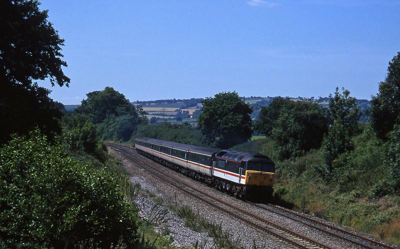 47840, 11.40 Plymouth-Liverpool, Whiteball, 25-7-96.