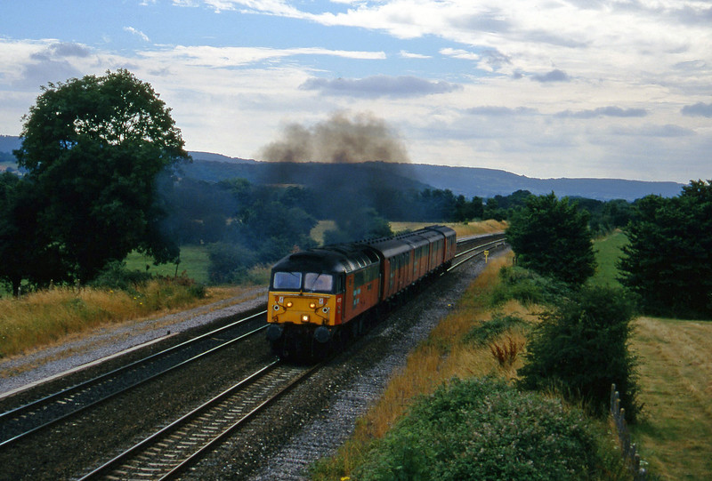 47757, 13.53 Plymouth-Bristol, Cogload, 30-7-96.