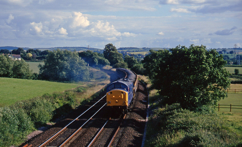 37047, up ballast, Willand, near Tiverton, 5-7-96.