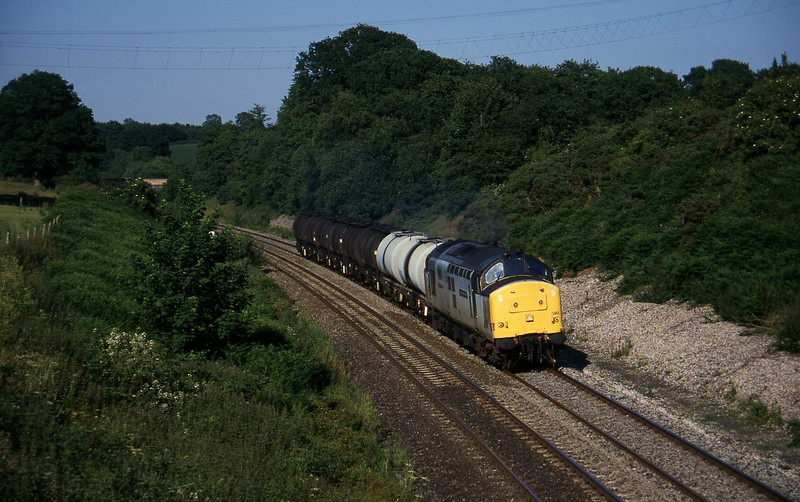 37890, 13.34 Fawley-Plymouth Tavistock Junction Yard, Whiteball, 16-7-96.