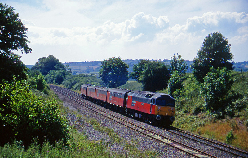 47786, 13.53 Plymouth-Bristol Temple Meads, Whiteball, 22-7-96.