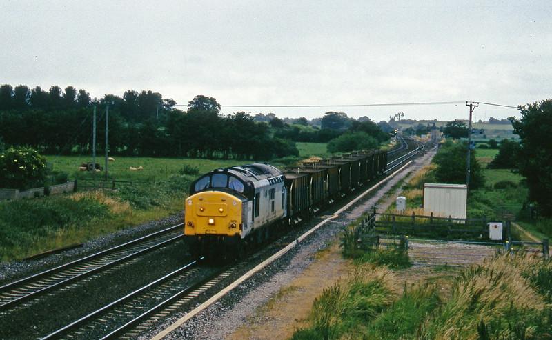 37679, down ballast empties, Cogload, 9-7-96.