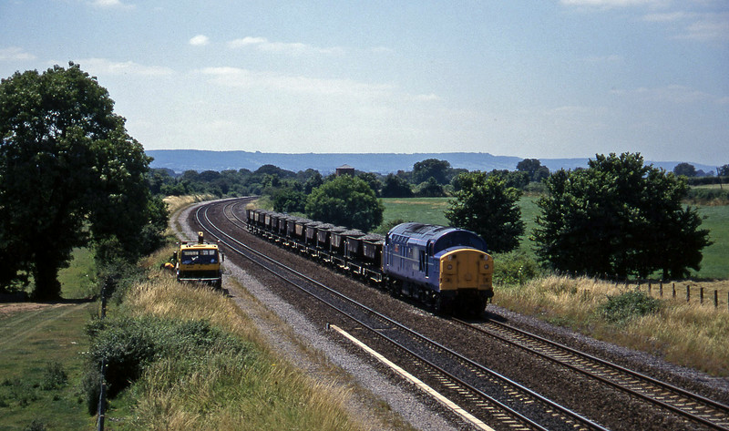 37055, up ballast, Cogload, 16-7-96.