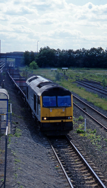 60020, down steel flats, Hatfield, near Doncaster, 12-6-96.