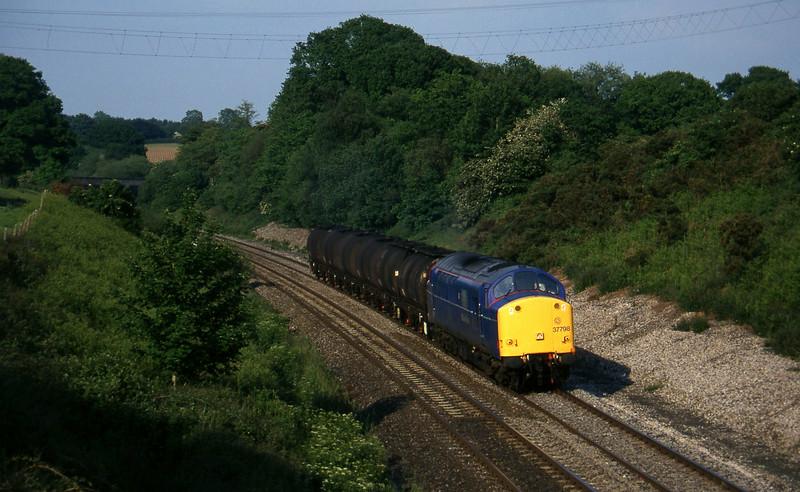 37798, 13.34 Fawley-Plymouth Tavistock Junction Yard, Whiteball, 14-6-96.