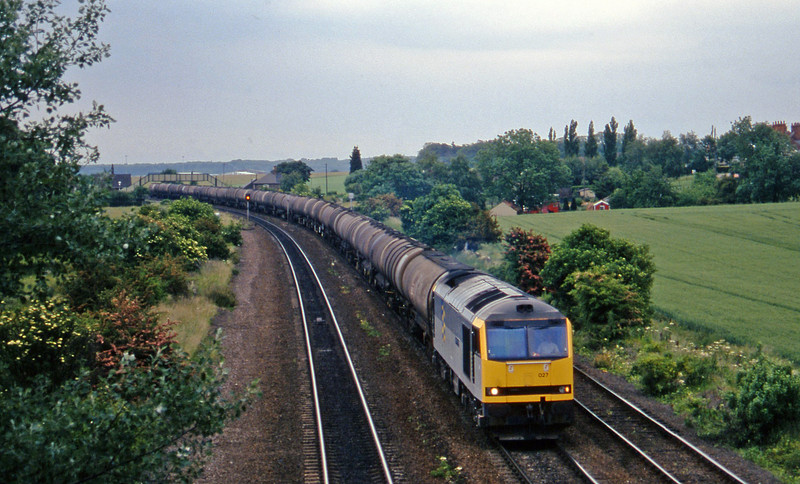 60027 westbound tanks, Melton Ross, 19-6-96.