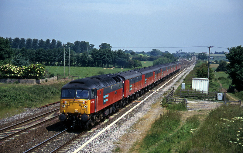 47746, 12.15 Bristol Temple Meads-Plymouth, Cogload, 18-6-96.