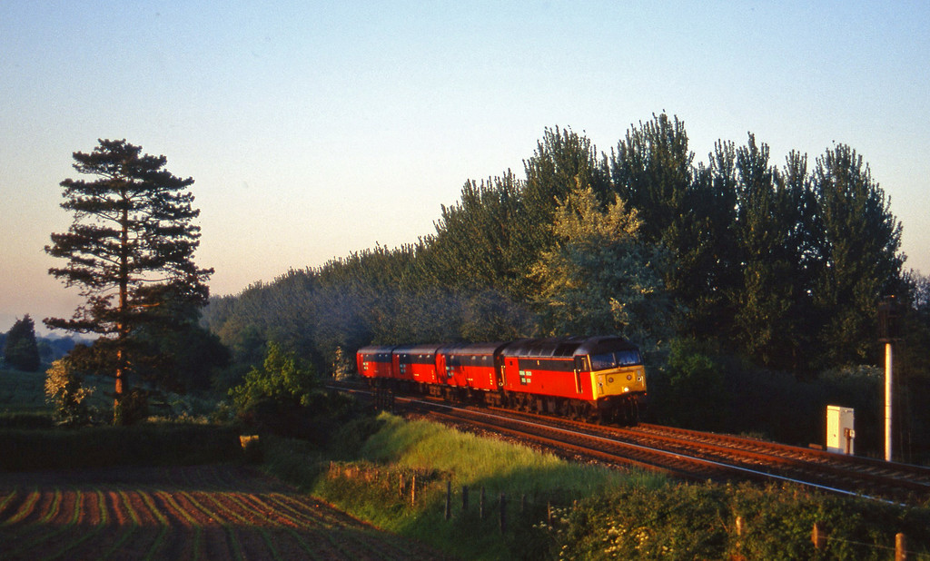 47627, 16.02 London Paddington-Plymouth, Beambridge, near Wellington, 6-6-96.