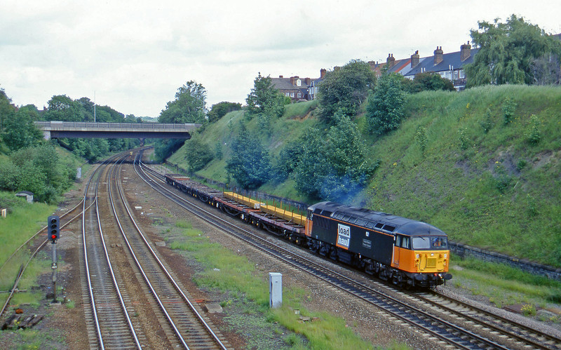 56077, up steel flats, Rotherham, Masborough, 12-6-96.