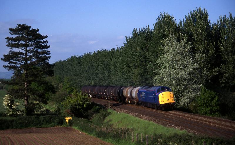 37798, 13.34 Fawley-Plymouth Tavistock Junction Yard, Beambridge, near Wellington, 4-6-96.
