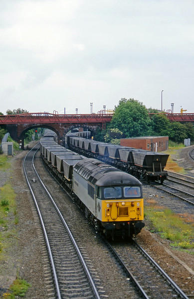 56075, westbound mgr empties, Knottingley, 19-6-96.