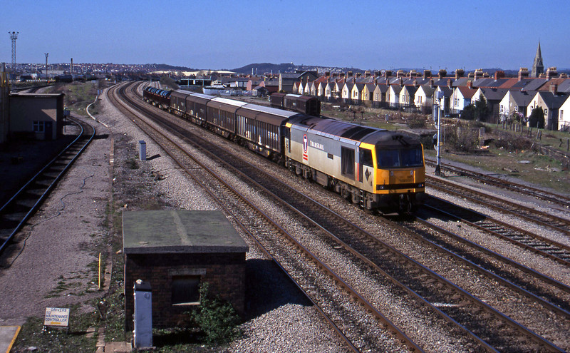 60065, up steel, Cardiff Canton, 27-3-96.