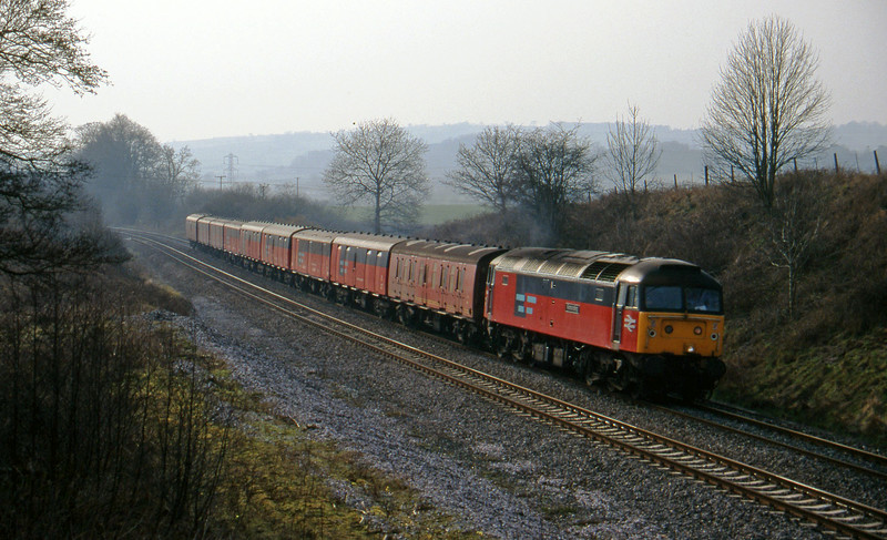 47764, 13.53 Plymouth-Crewe, Whiteball, 13-3-96.