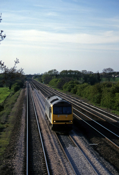 60076, up light, Cossington, Leicestershire, 14-5-96.