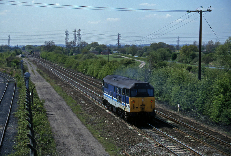 31410, up light, Stenson Junction, near Derby, 14-5-96.