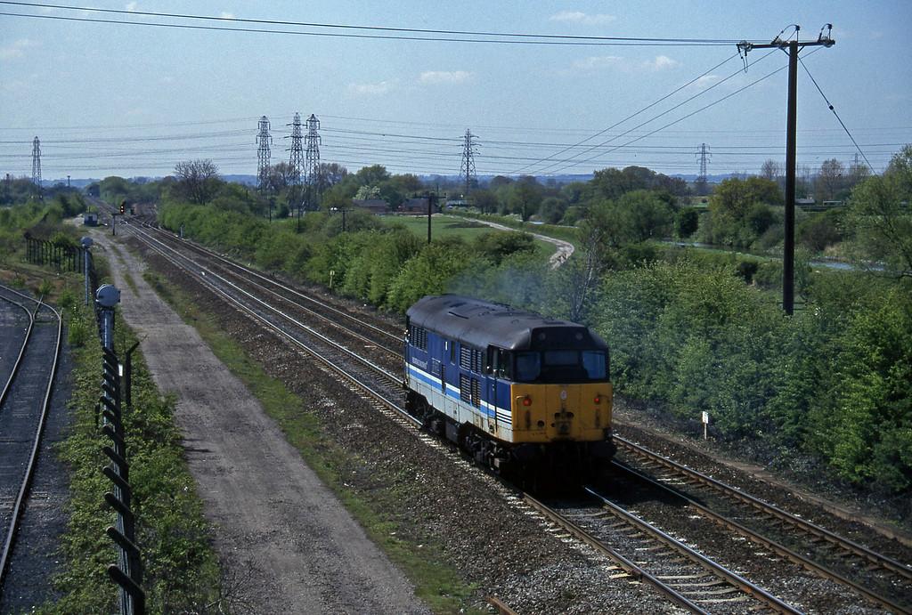 31410, up light, Stenson Junction, near Derby, 14-5-96.