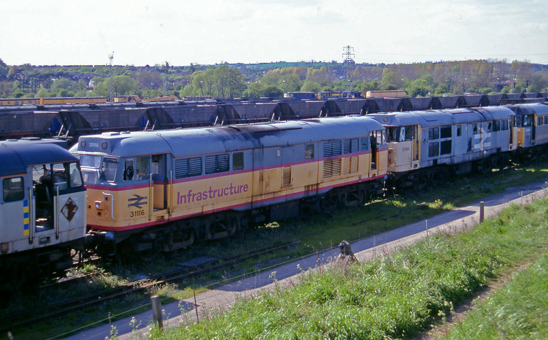 31294/31116/31184/31531, stabled, Toton, Nottingham, 14-5-96.