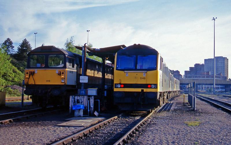 60048/60075/60087/58018, stabled, Leicester TMD, 14-5-96.