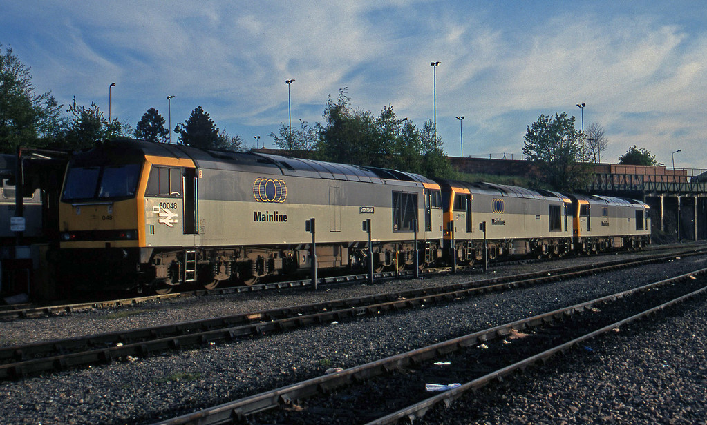 60048/60075/60087,  stabled, Leicester TMD, 14-5-96.