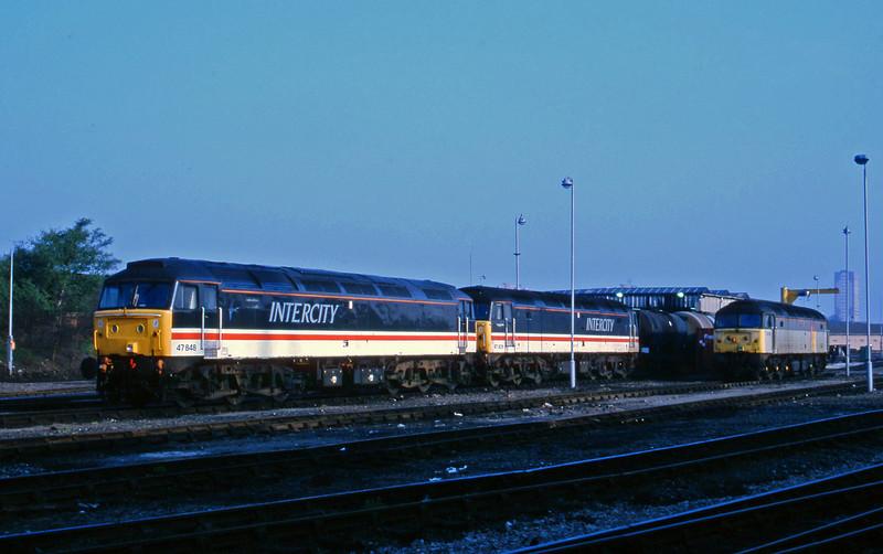 47848/47826/47156, stabled, Saltley, Birmingham, 14-5-96.