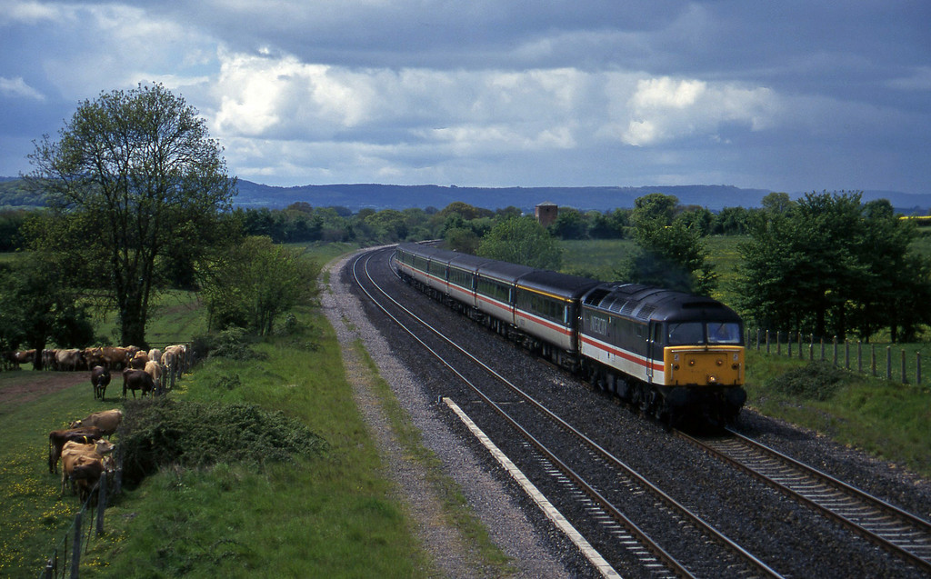 47843, 10.44 Plymouth-Manchester Piccadilly, Cogload, 21-5-96.