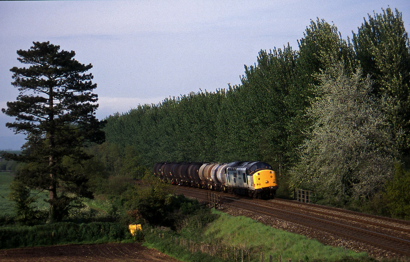 37705, 13.34 Fawley-Plmouth Tavistock Junction Yard, Beambridge, near Wellington, 28-5-96.