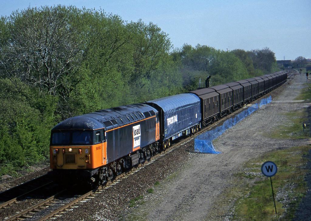 56100, up steel, Stenson Junction, near Derby, 14-5-96.