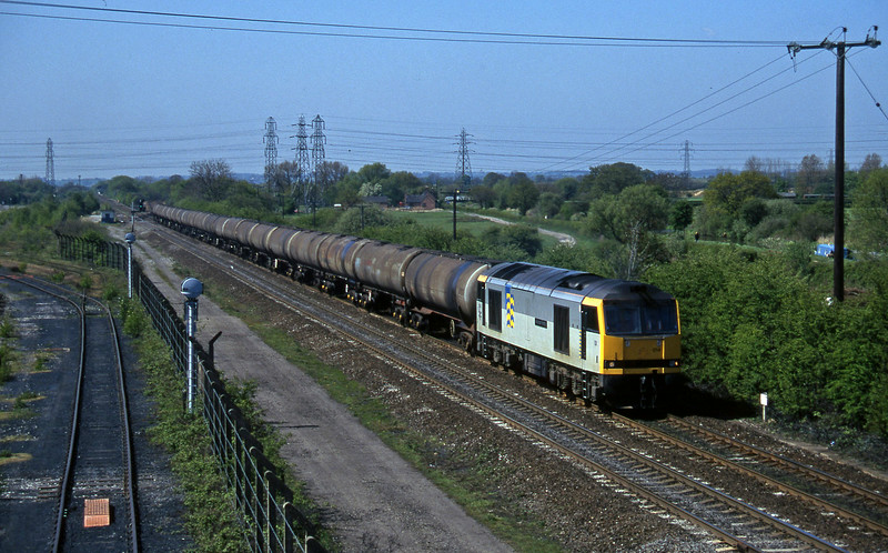 60014, down tanks, Stenson Junction, near Derby, 14-5-96.