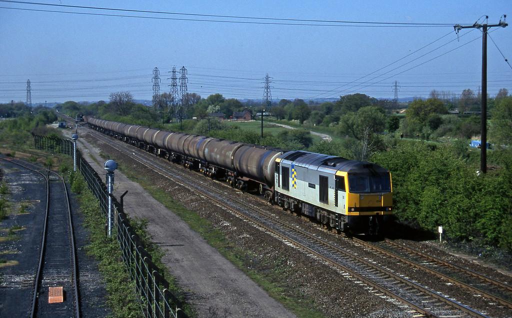 60014, down tanks, Stenson Junction, near Derby, 14-5-96.