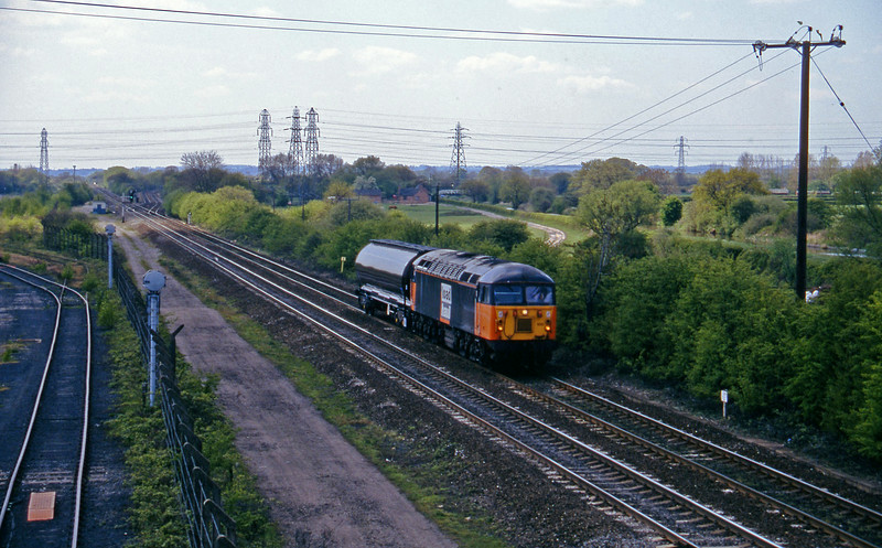 56100, down tank, Stenson Junction, near Derby, 14-5-96.