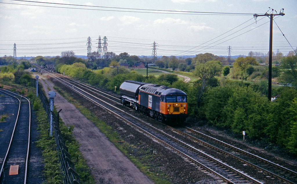 56100, down tank, Stenson Junction, near Derby, 14-5-96.