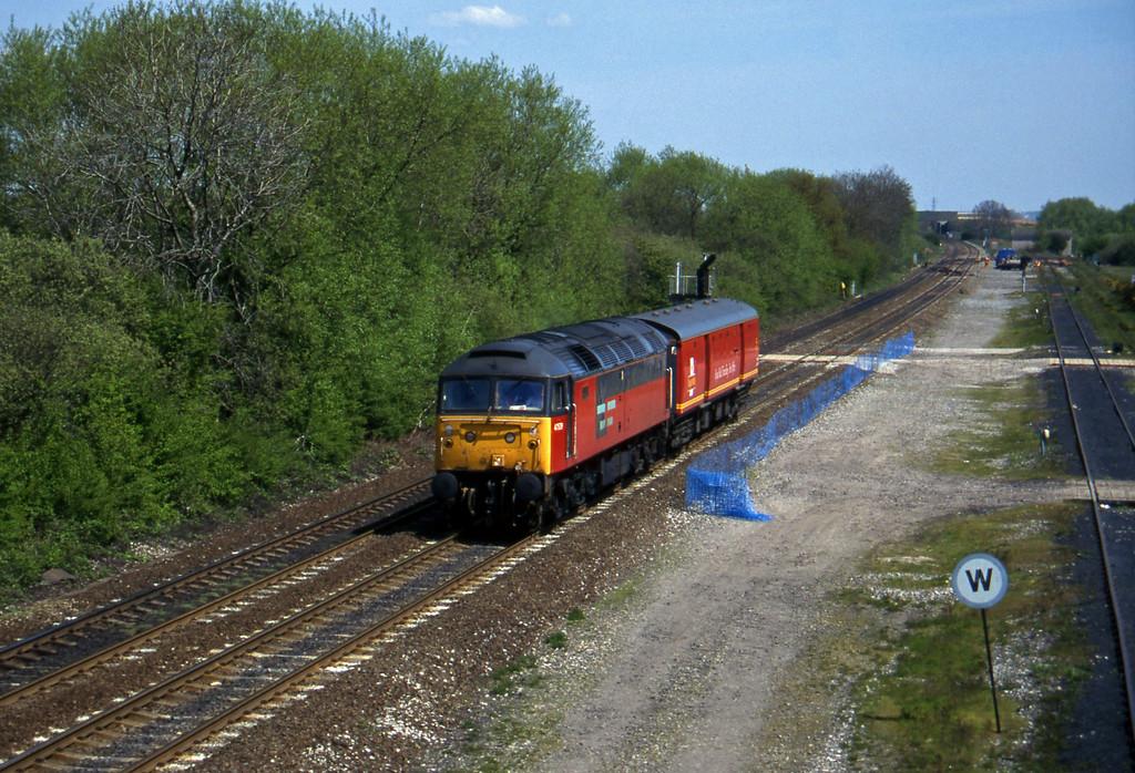 47539, up van, Stenson Junction, near Derby, 14-5-96.