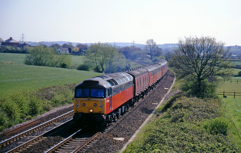 47634, 13.53 Plymouth-Crewe, Willand, near Tiverton, 8-5-96.