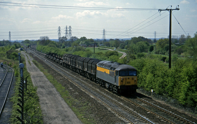 56031, down steel, Stenson Junction, near Derby, 14-5-96.
