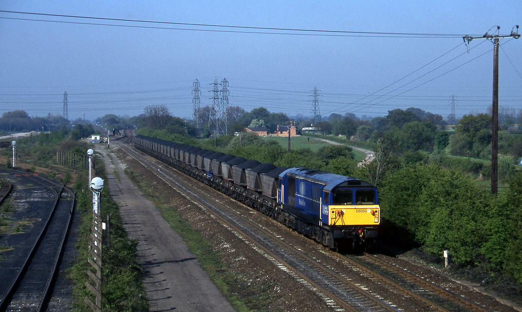 58050, down mgr, Stenson Junction, near Derby, 14-5-96.