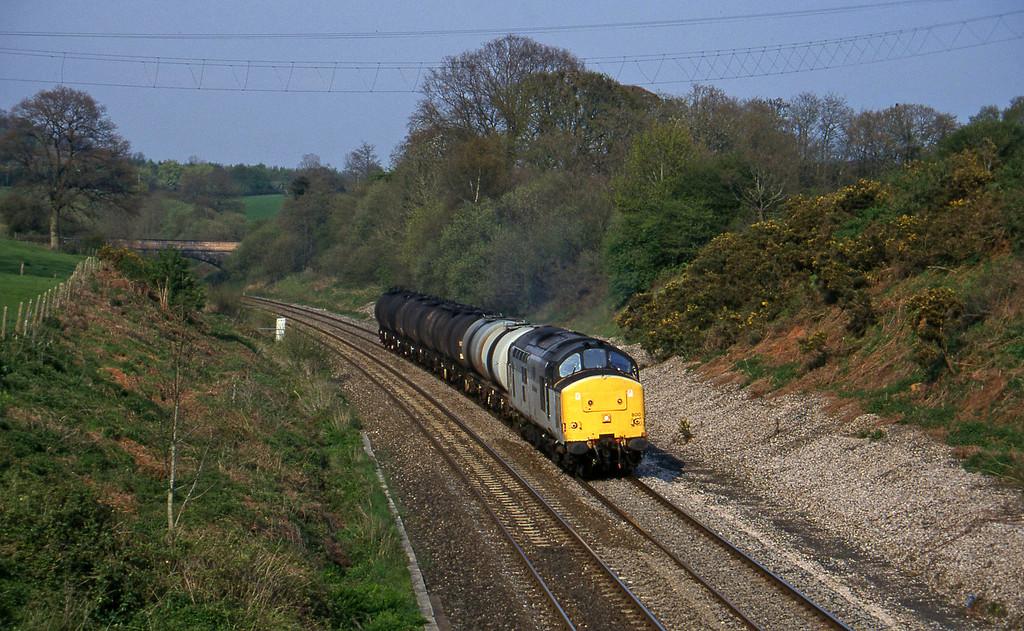 37800, 13.34 Fawley-Plymouth Tavistock Junction Yard, Whiteball, 7-5-96.