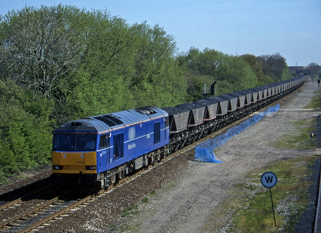 60044, up mgr, Stenson Junction, near Derby, 14-5-96.