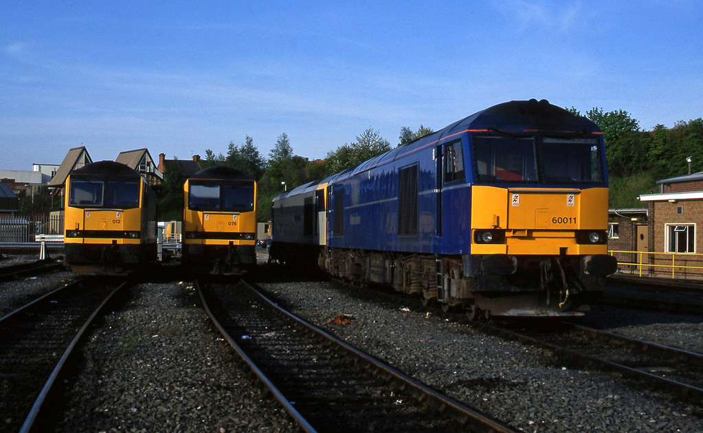 60011/60098/60076/60012, stabled, Leicester TMD, 14-5-96.