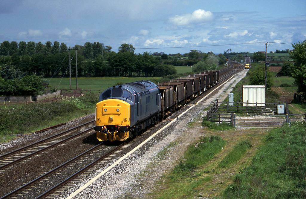 37174, down ballast empties, Cogload, 21-5-96.