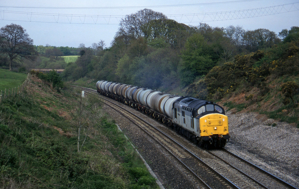 37800, 13.34 Fawley-Plymouth Tavistock Junction Yard, Whiteball, 13-5-96.