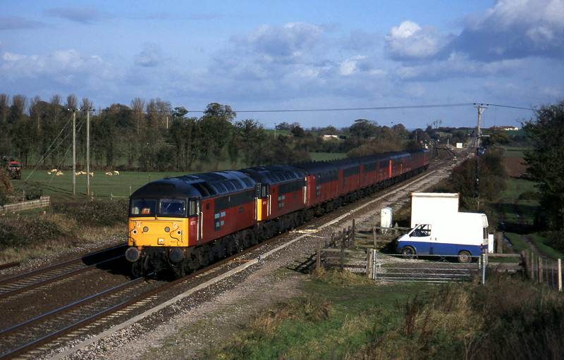 47773/47747, 12.15 Bristol Temple Meads-Plymouth, Cogload, 19-11-96.