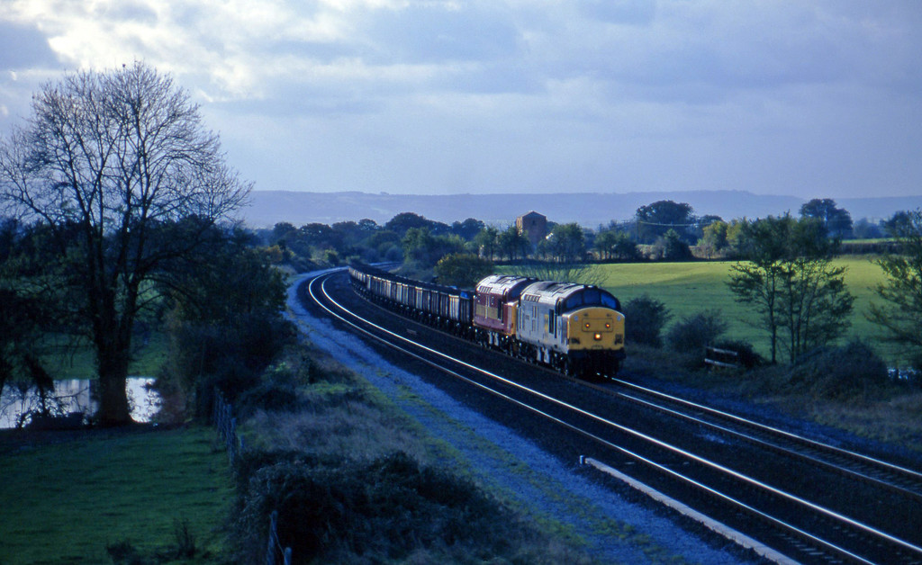 37899/37416, up departmental, Bristol line, Cogload, 19-11-96.