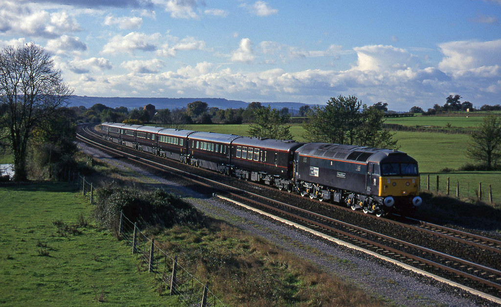 47798, Royal train, heading for Bristol line, Cogload, 19-11-96.