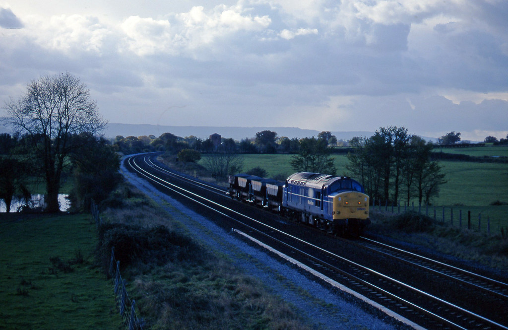 37803, up ballast, Cogload, 19-11-96.