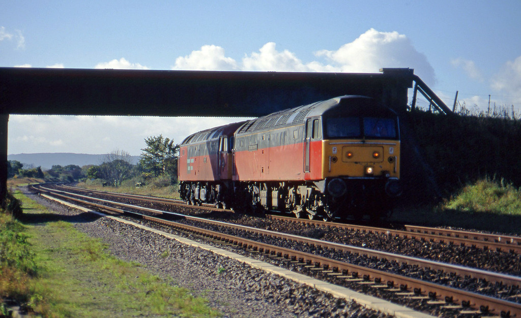 47522/47775, up light (Bristol), Cogload, 5-11-96.